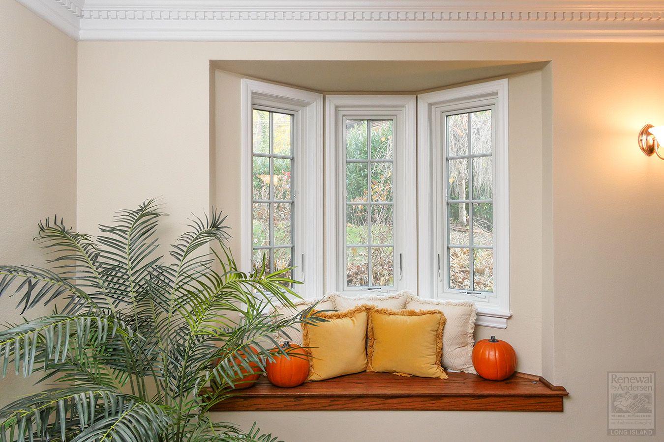 Great little window seat with three new casement windows