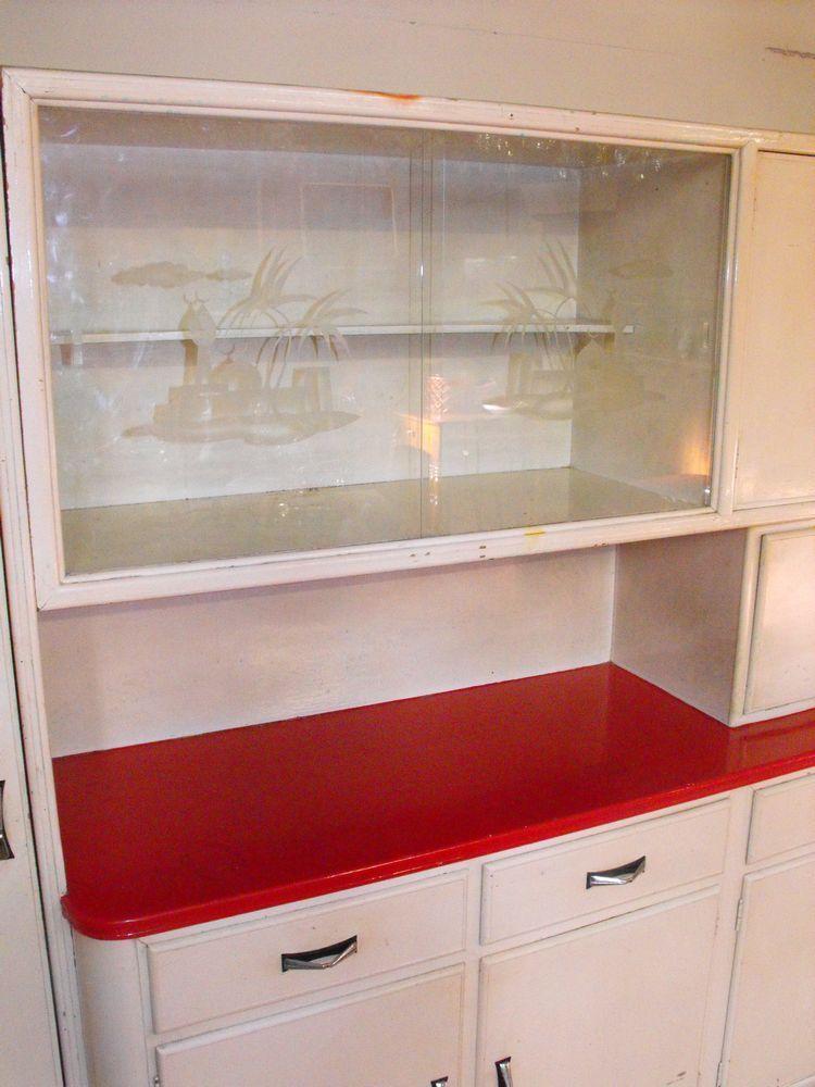 Credenza da cucina italiana anni 30 50 laccata bianca for Cucina italiana mobili