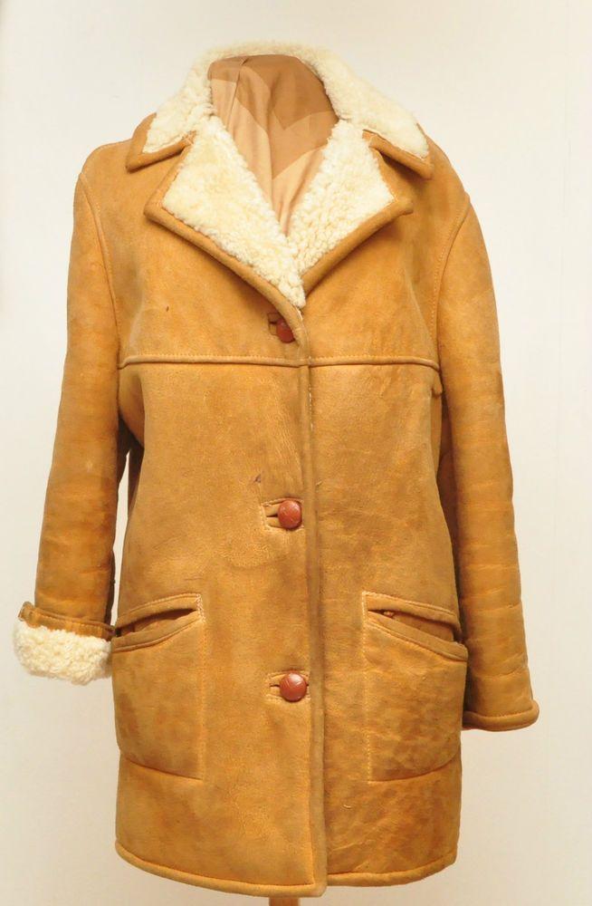 Vintage Suede Sheepskin Coat | The Original Archived Fashions ...