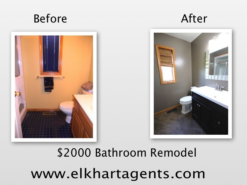 Remodel Bathroom For $2000 my last bathroom remodel. supplies cost $2000 and my husband did