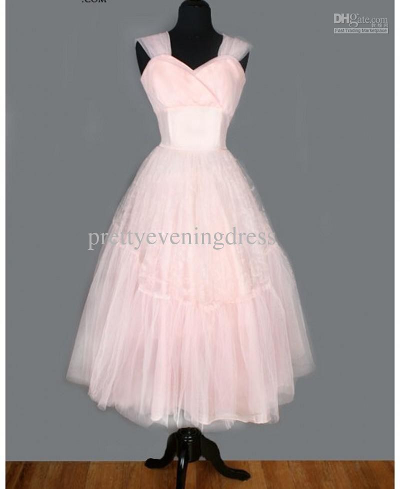 Vintage 50s Tea Length Prom Dresses