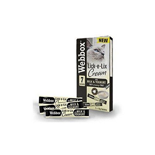 Webbox LickeLix Cream Milk and Yoghurt Sachets Cat Treat