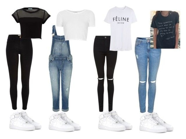 Outfit ideas with Nike Air Force 1 mid