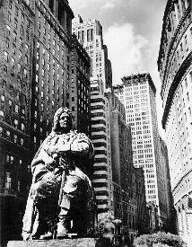 Berenice Abbott --   DePeyster Statue, Bowling Green  c. 1935-39