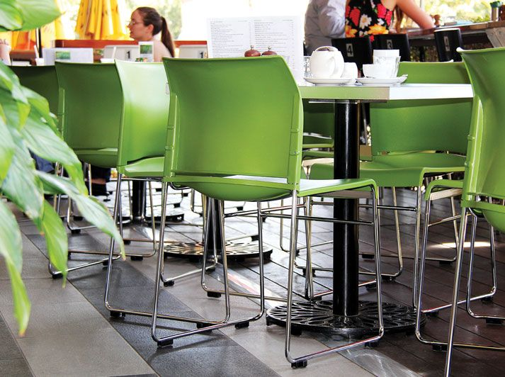 Green Envy Cafe Chairs From Fuzeinteriors Buro Office Seating
