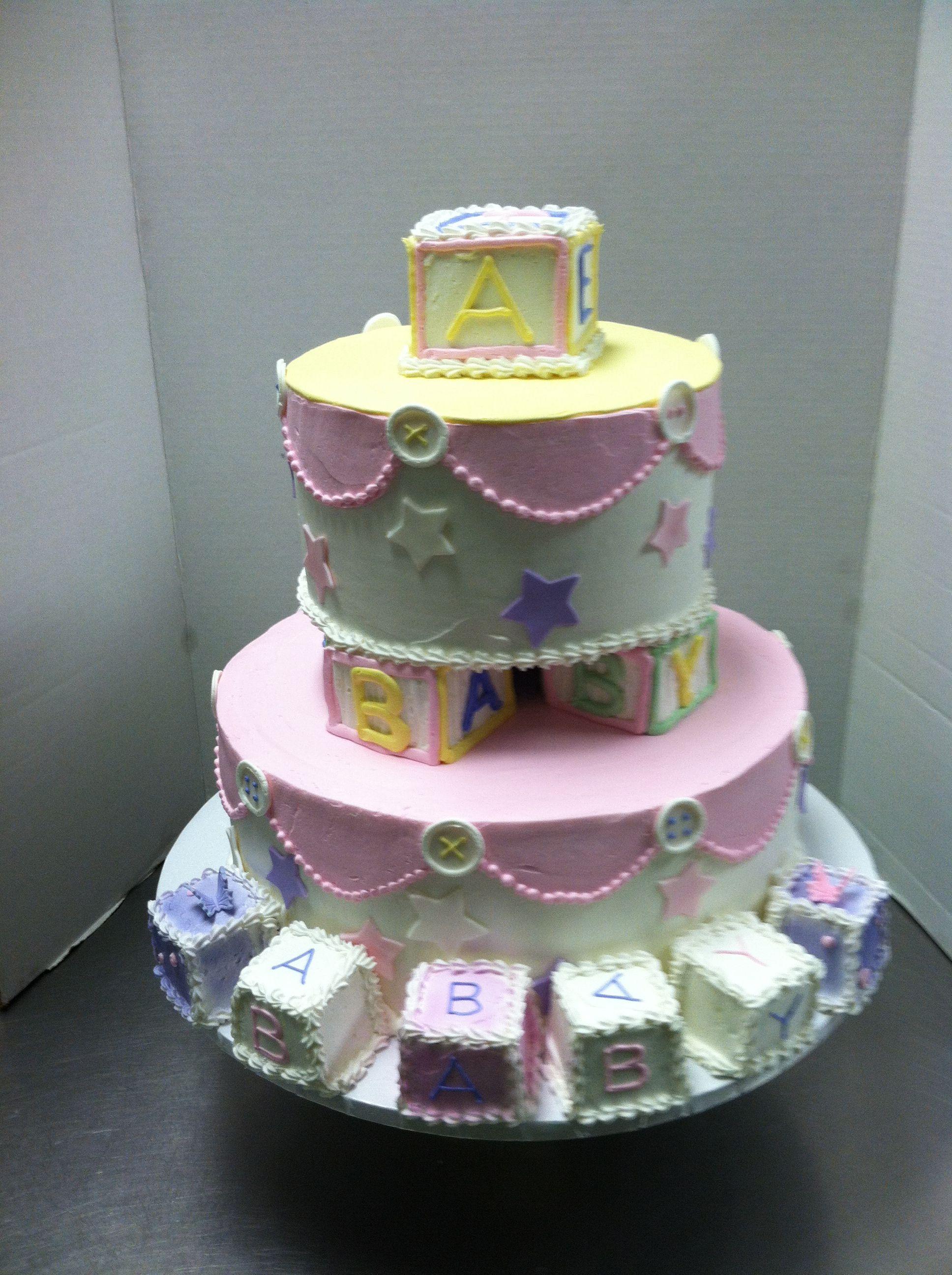 Building block baby shower cakelucky treats baby blocks