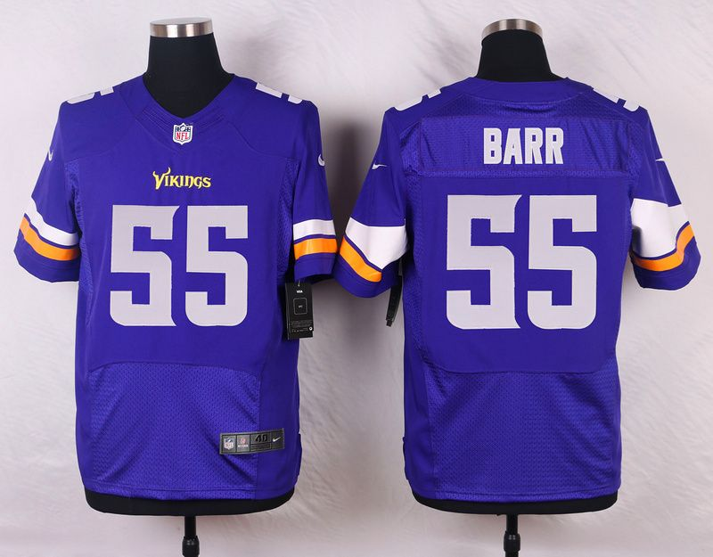 new product 10787 07410 Minnesota Vikings 55 Barr Purple Men Nike Elite Jerseys ...