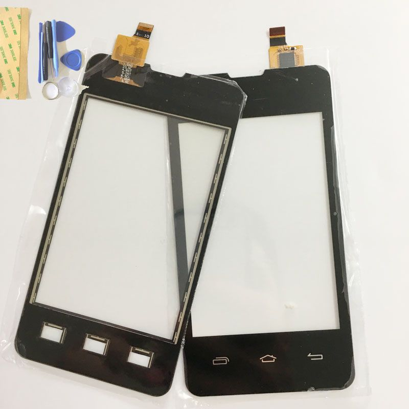 블랙 컬러 터치 스크린 prestigio multiphone pap3350 pap 3350 duo 터치 패널 디지타이저 유리 센서 교체 + 도구
