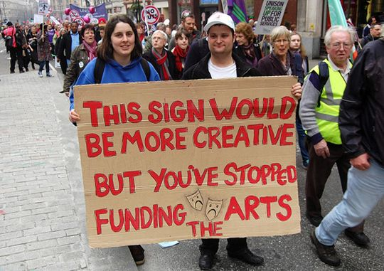Fund the arts. Kids are dumb enough already without taking things away