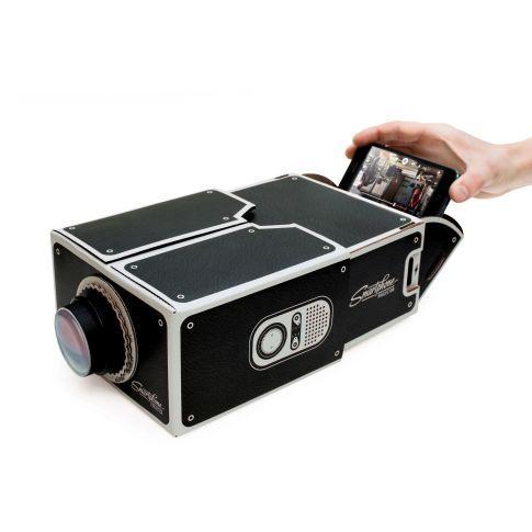 Smartphone Projektor, Luckies, analog, projeziert das Bild bis zu 8x größer Vorderansicht