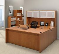 Cool Executive Office Suite Furnished With Desking From The Offices To Go  Superior Laminate Collection.