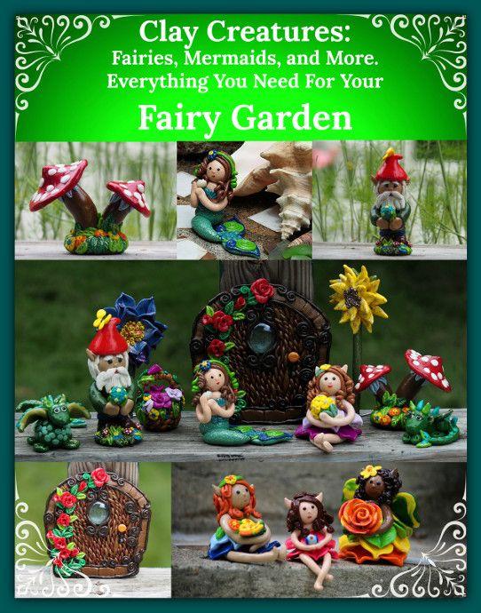 Clay Fairy Garden Creations Crafts Pinterest Clay Fairies
