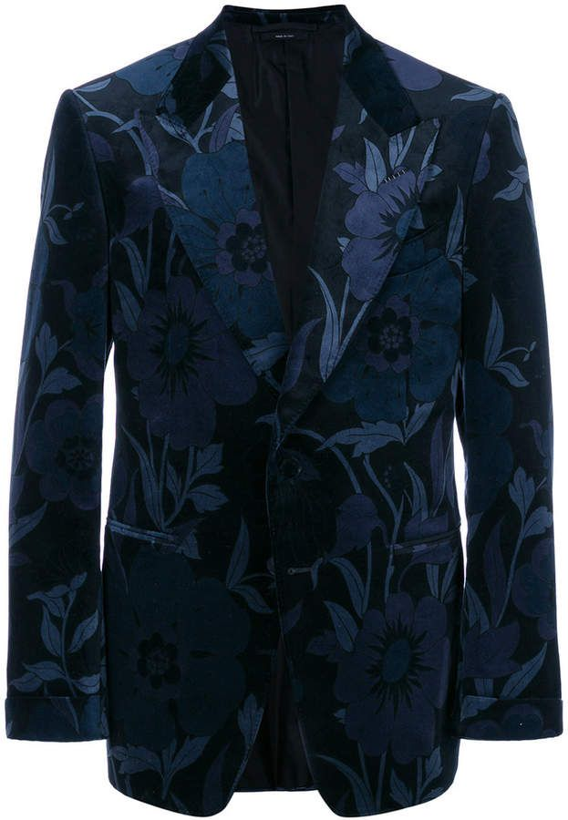 Tom Ford Floral Patterned Suit Jacket GroomsMen 40 Pinterest Extraordinary Patterned Suit Jacket