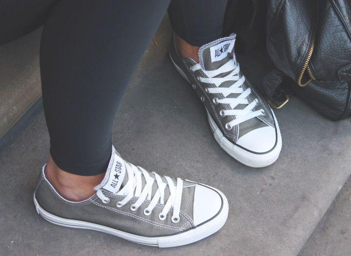 Casual shoes, Grey converse, Grey chucks