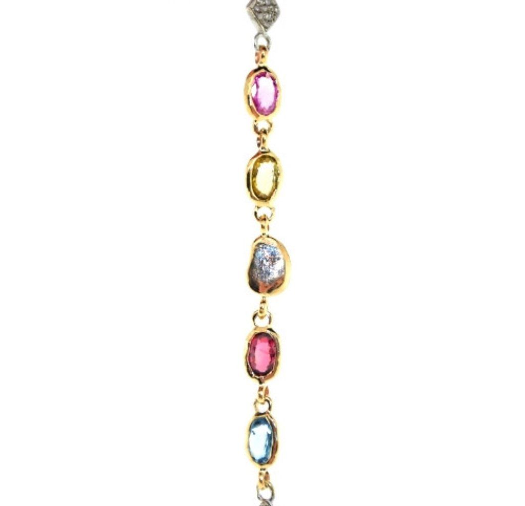 Sapphire trinidad bracelet mabel chong oval multicolored