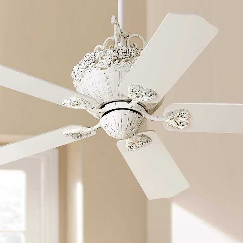 52 Casa Chic Rubbed White Ceiling Fan 12277 Lamps Plus With Images Ceiling Fan Chandelier Fan Decorative Ceiling Fans