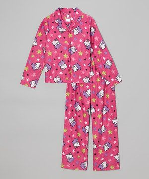 Sweet dreams await any little one donning this absolutely darling pajama set. Featuring super-soft fabric, a relaxed fit and an elastic waistband, they're a cozy, nonstop ticket straight into slumber paradise.