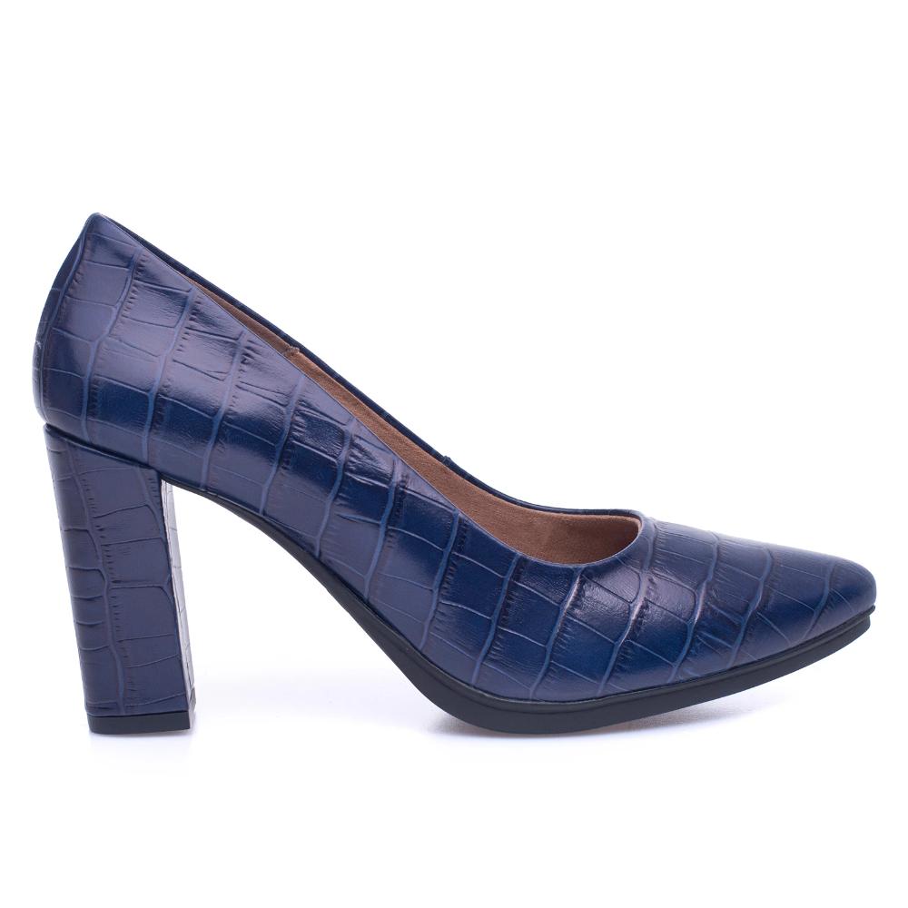 URBAN COCO Zapato de salón AZUL textura cocodrilo