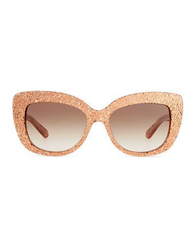 fe98ab85e6 kate spade new york ursula glitter cat-eye sunglasses