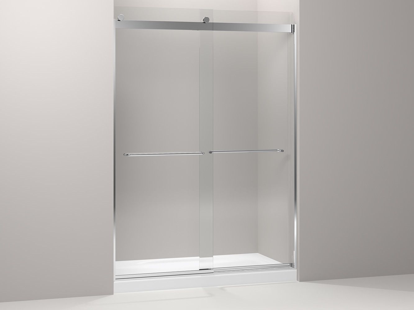 Levity Rear Sliding Glass Panel And Assembly Kit For Shower Door