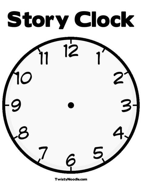 Blank Clock Coloring Page create your own words! | Blank ...