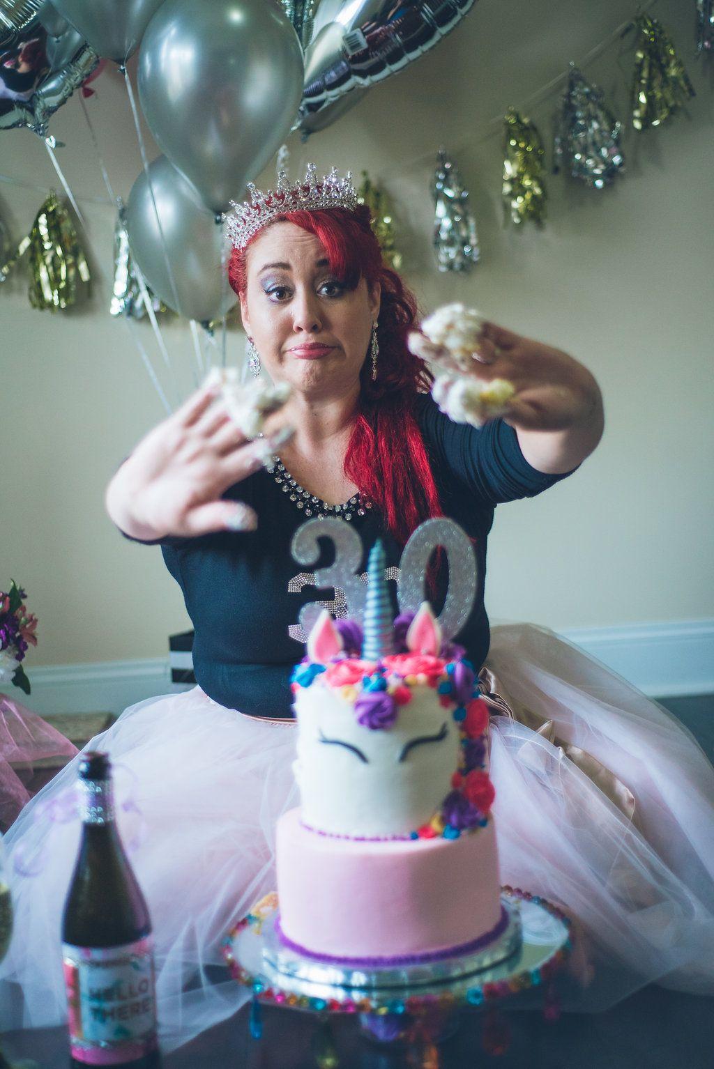 Unicorn 30th Smash Cake Turning 30