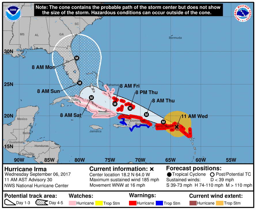 With Path Uncertain Nc Stresses Irma Preparation Hurricane National Hurricane Center Storm Center