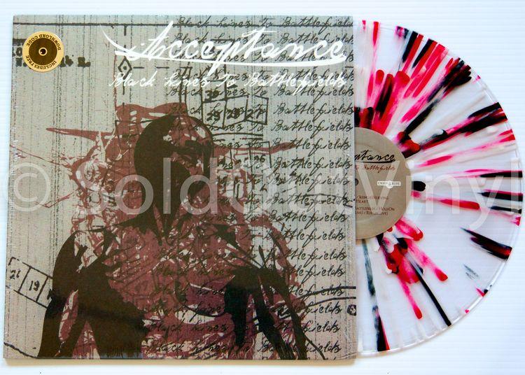 Acceptance Black Lines To Battlefields Vinyl First Press Lp Vinyl Battlefield Records For Sale