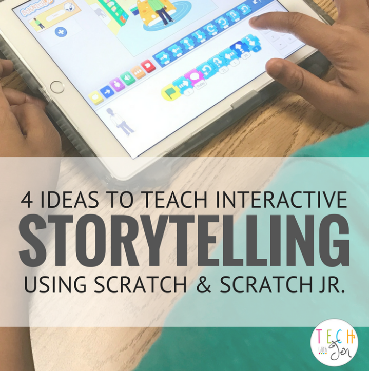 4 Ideas to Teach Interactive Storytelling Using Scratch and Scratch Jr.
