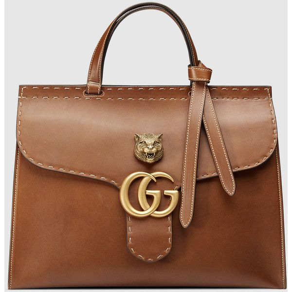 Gucci Gg Marmont Leather Top Handle 2 610 Liked On Polyvore Featuring Bags