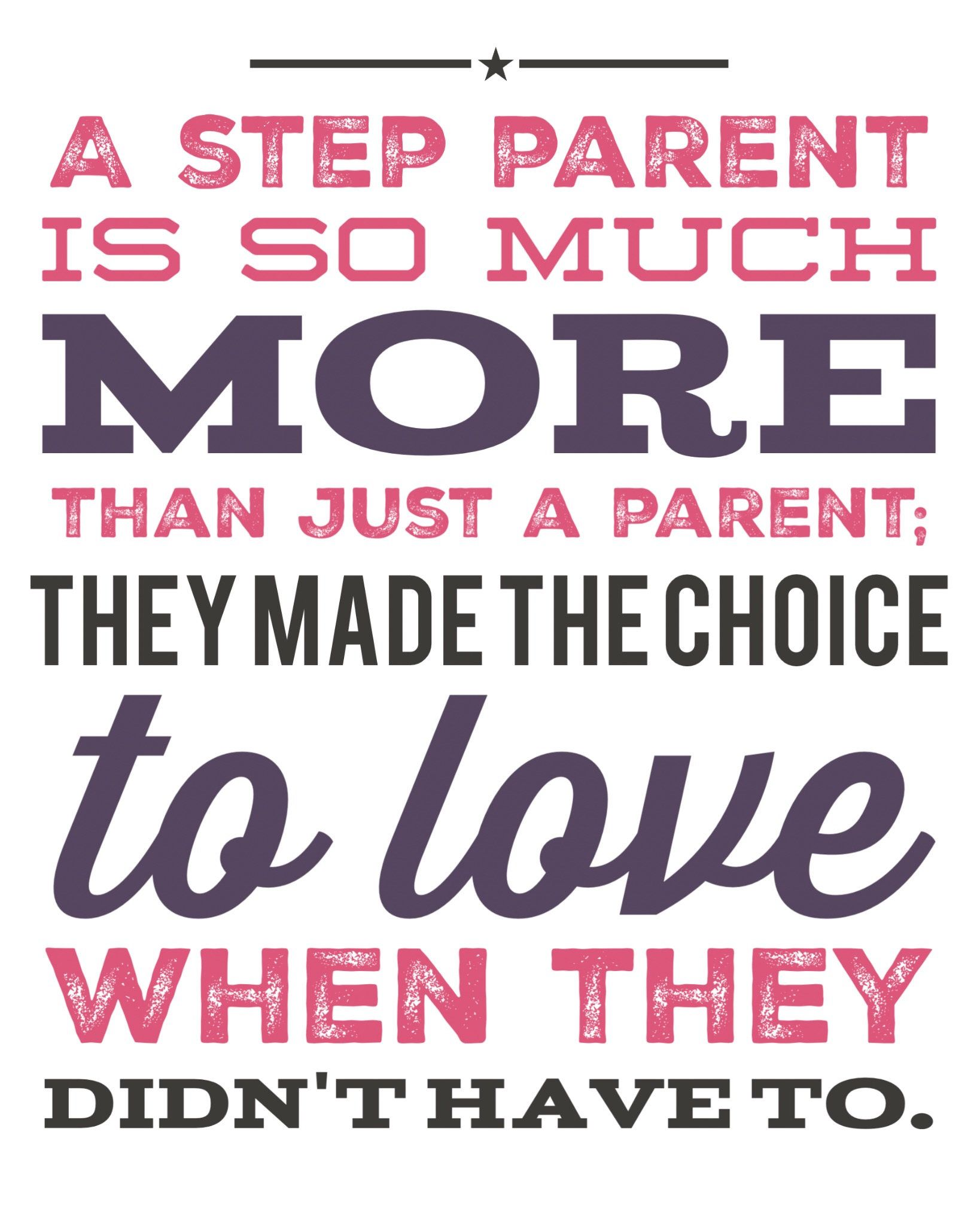 Step Parent, Mother\'s Day, Step Mom, Step Mother, Birthday, Just ...