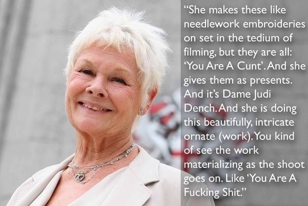 That is AWESOME! KNEW there was a reason I liked Dame Judi Dench.