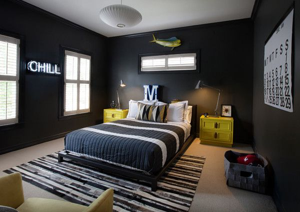 Coole Zimmer Ideen Für Jugendliche Und Kreative Wandgestaltung Mit  Wandfarbe Schwarz