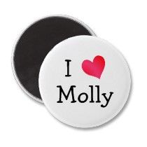 I Love Molly Refrigerator Magnets by definingyou
