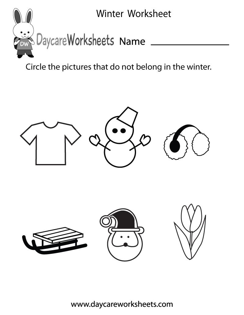 Daycare Worksheets - Free Preschool Worksheets to Print