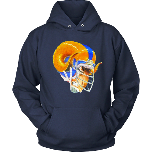 942b2cdf5 Limited Edition LA Rams Hoodie Precision direct-to-garment printed graphics  Material  Premium 100% Cotton Colors  Rams Blue