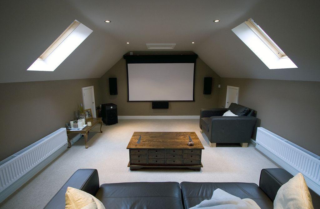 Sharkey1 Attic Conversion Home Theater Rooms Home Cinema Room Loft Room