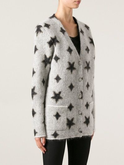 SAINT LAURENT - star print cardigan 8