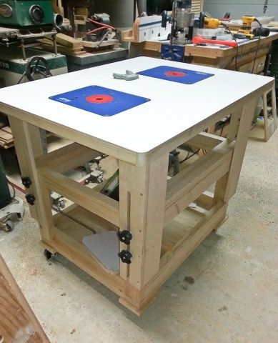 Adjustable Height Worktable Router Table Woodworking