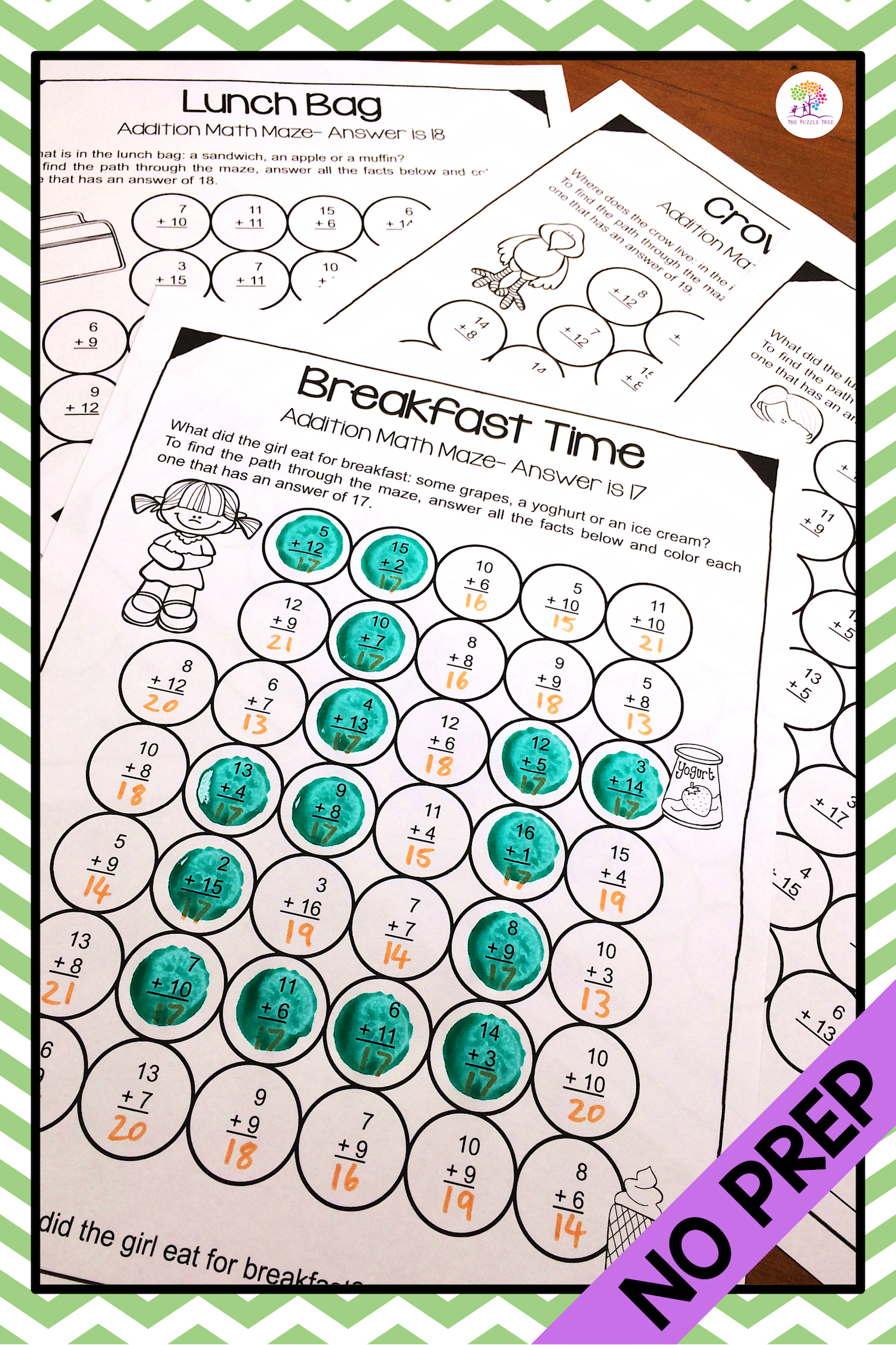 Addition Math Mazes Addition Worksheets For Addition
