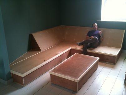 Built on couch with storageHillcrestPinterestBuilt ins