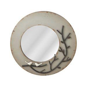 Bird and Moon Wall Mirror