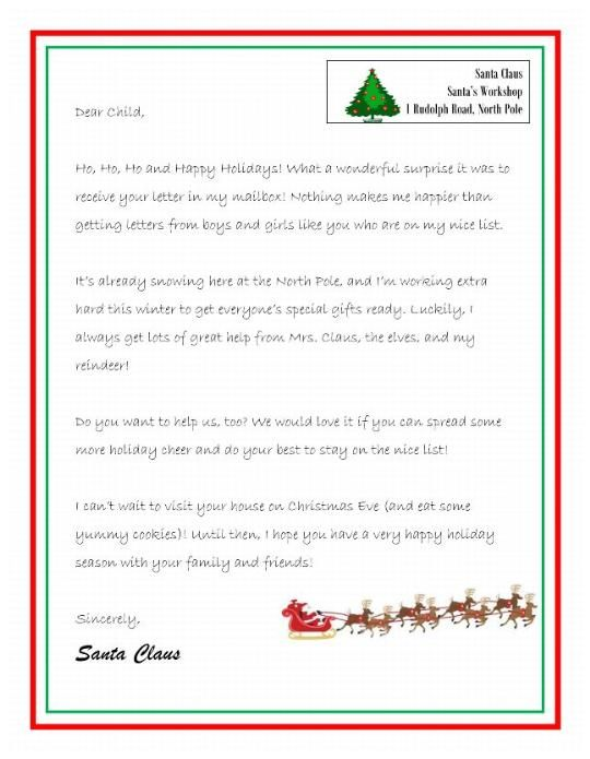 How To Write A Reply Letter From Santa - The best estimate ...