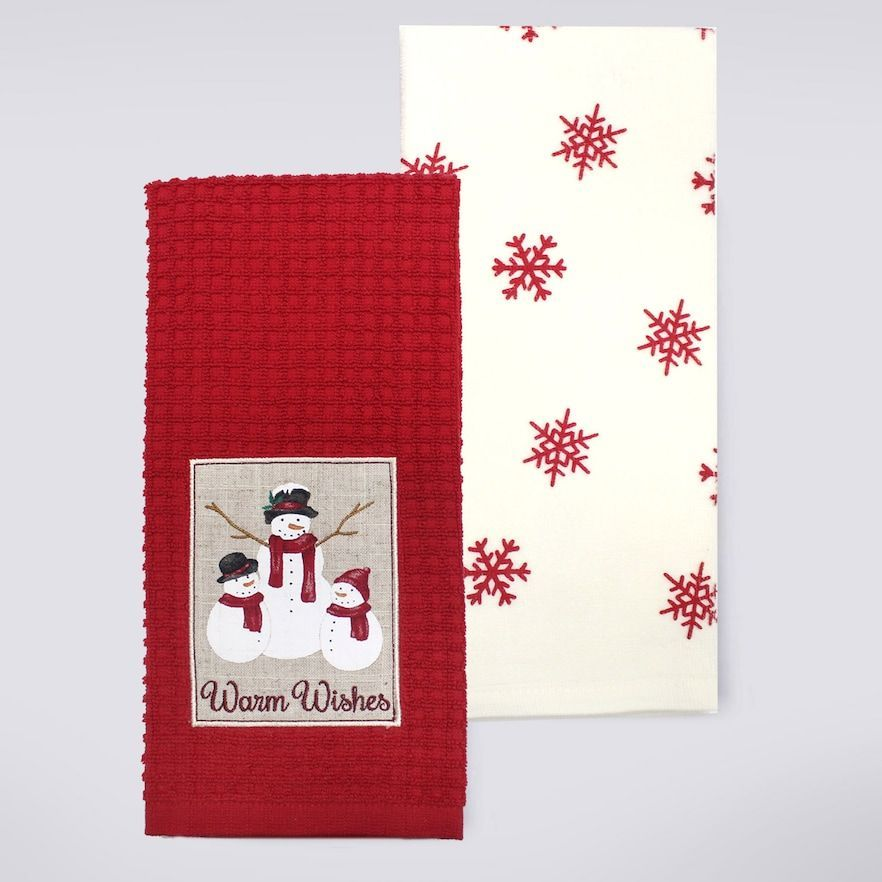 St Nicholas Square Warm Wishes Kitchen Towel 2 Pk Christmas