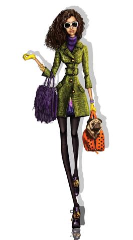 Pergamino fashion illustration