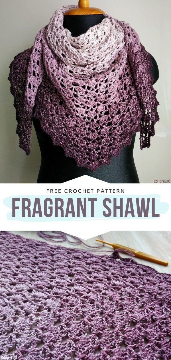 How to Crochet Fragrant Shawl