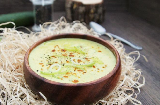 Zucchini-Curry-Suppe mit Lauch © Cook and bake with Andrea