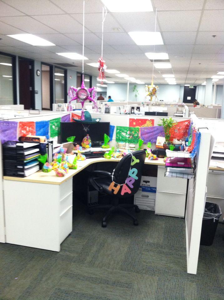 Mexican theme office cubical decoration | Desk decor ...