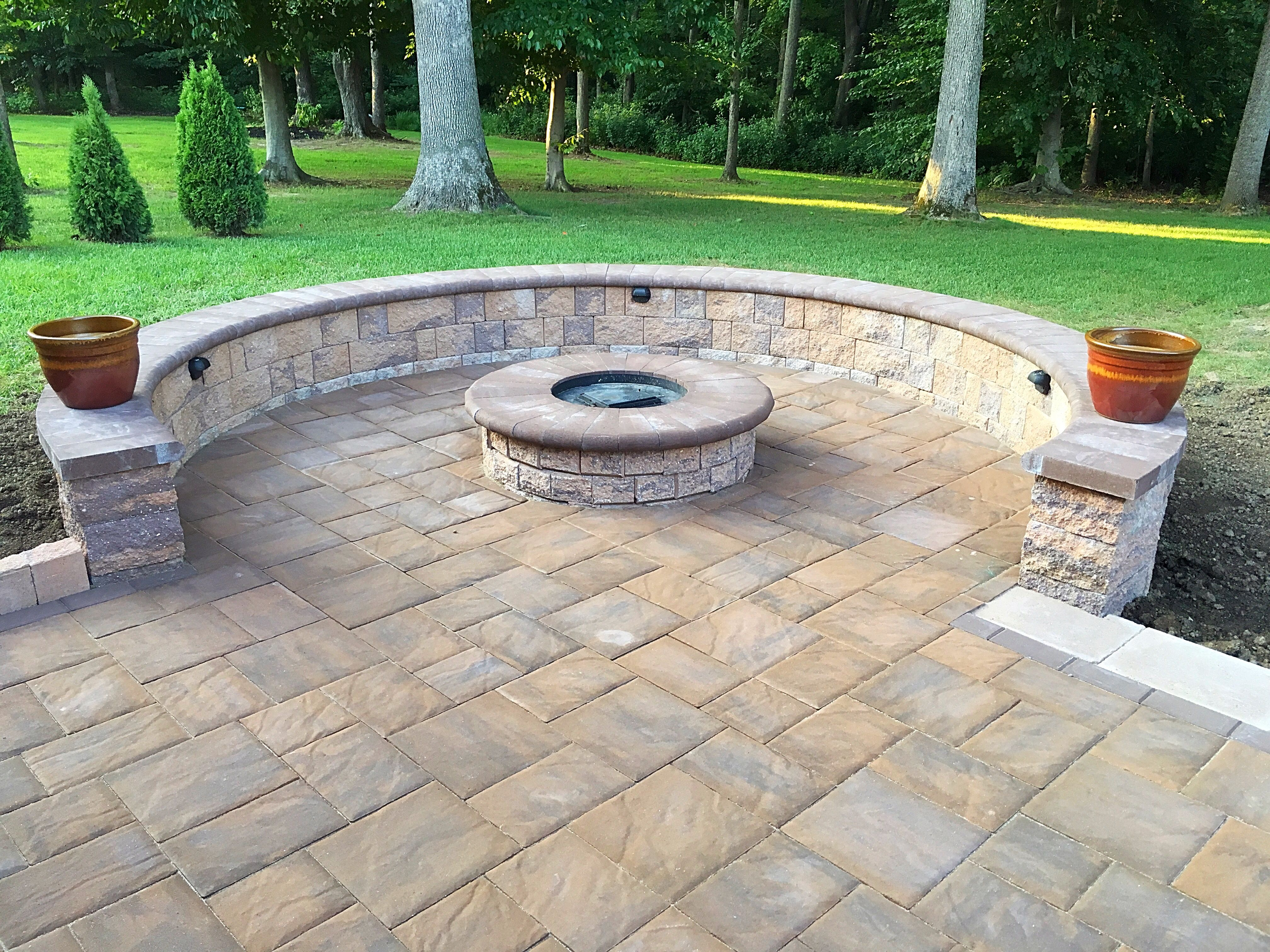 Paver Patio Ep Henry Patio Fire Pit Sitting Wall Outdoor