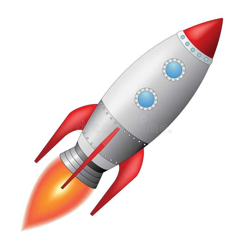 Space Rocket Vector Illustration Of Space Rocket Blasting Off Into The Sky Aff Vector Illustration Space Rocket Rocket Illustration Space Rocket